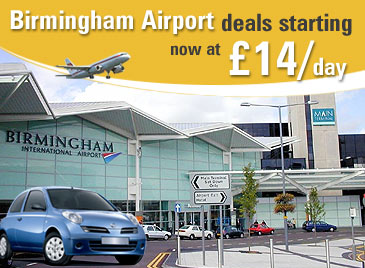Get 10% discount on Birmingham Airport Car Rental