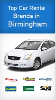 Top Car Rental Brands in Birmingham
